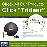 Trideer Exercise Ball, Extra Thick Yoga Ball