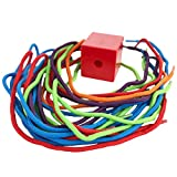 Boley Small Bucket of String and Beads - 47 piece beads and strings baby toy - small bucket for easy storage and quick cleanup making it the ideal bead kit!