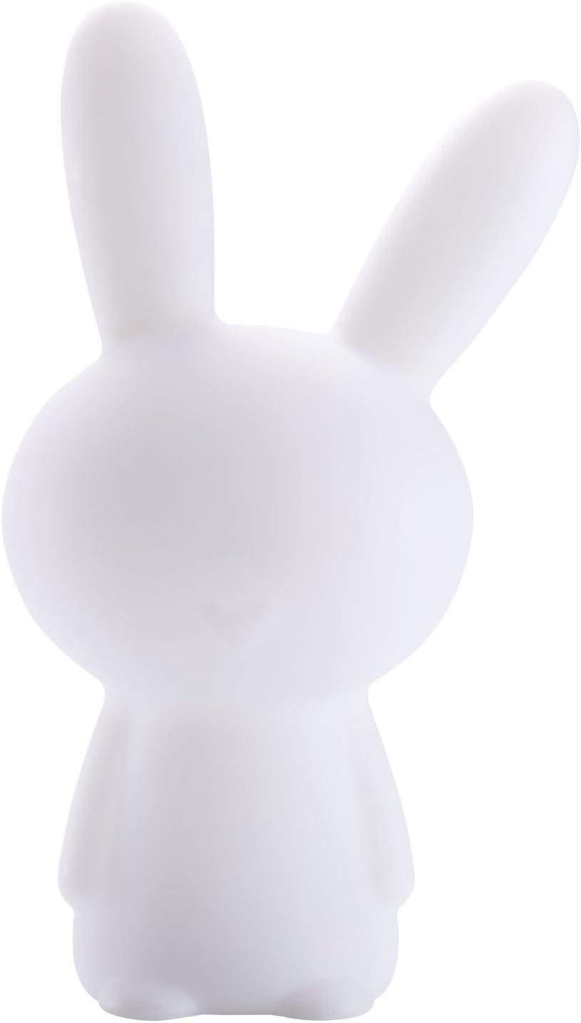 BigBen Sound BTLSRABBIT - Altavoz Wireless Luminoso Conejo portátil (15 W, Puerto USB, Jack 3.5 mm, Bluetooth, Distintos Colores y Efectos Luminosos) Color Blanco