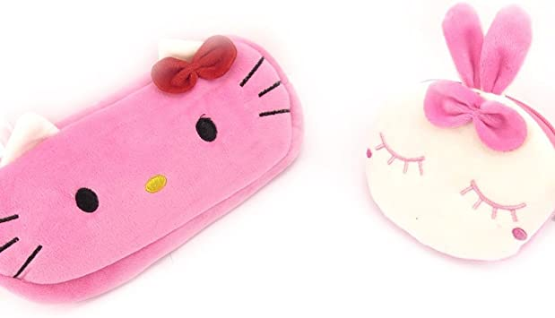 Porte Monnaie Peluche Hello Kitty Modele Rose