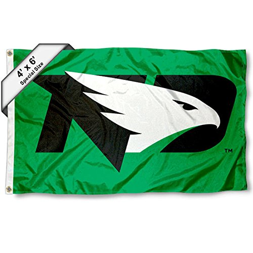 UND Fighting Hawks 4x6 Flag College Flags and Banners Co