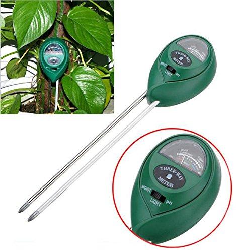 1-Set Paramount Popular 3in1 pH Soil Tester Meter Plant Mudder Test Flowers Sunlight Moisture Analyzer Color Green