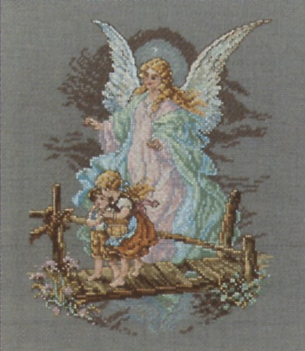 Janlynn Cross Stitch Kit, 8.125-Inch by 7-1/2-Inch, Guardian (Angel Cross Stitch Kit)