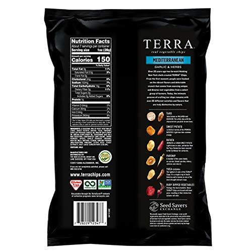 Terra Mediterranean Vegetable Chips, Garlic & Herbs, 6.8 Oz