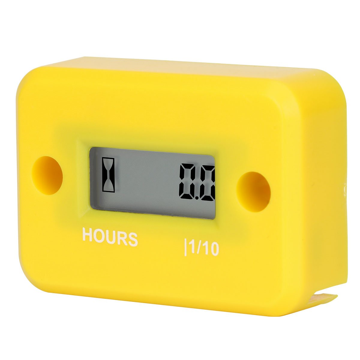 Aimila Digital Engine Hour Meter Inductive LCD Waterproof Hourmeter for Motorcycle (Yellow) by Aimila