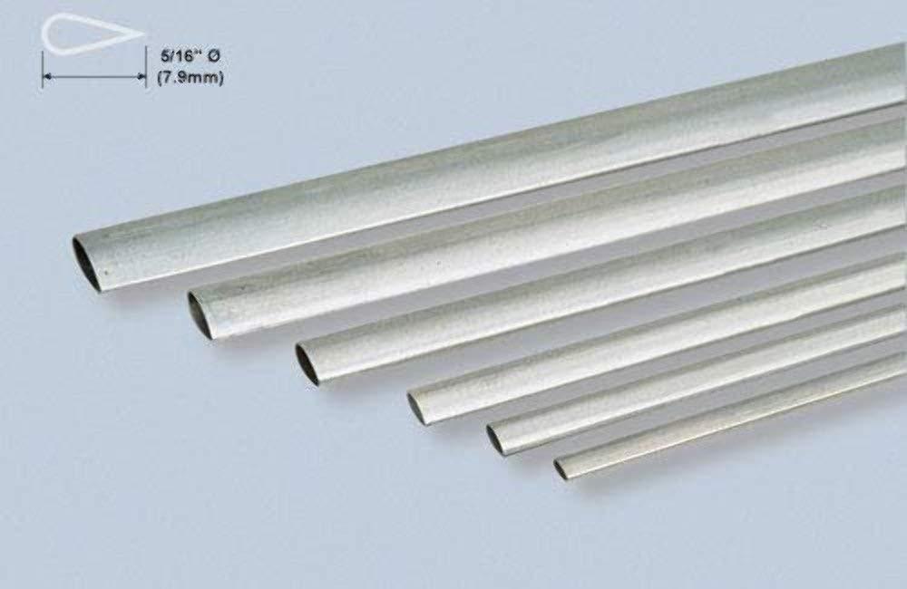 """5//16 aluminium tube 12/"""" long 0.049/"""" wall"""