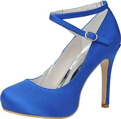 Femme 36 5 Nice Find Bleu Sandales Plateforme Bleu THtqzvx