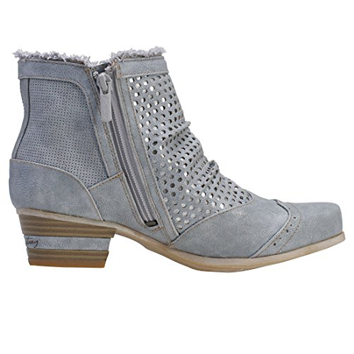 Mustang Lace Up With Perforated Layer Womens Ankle Boots j8Qu56