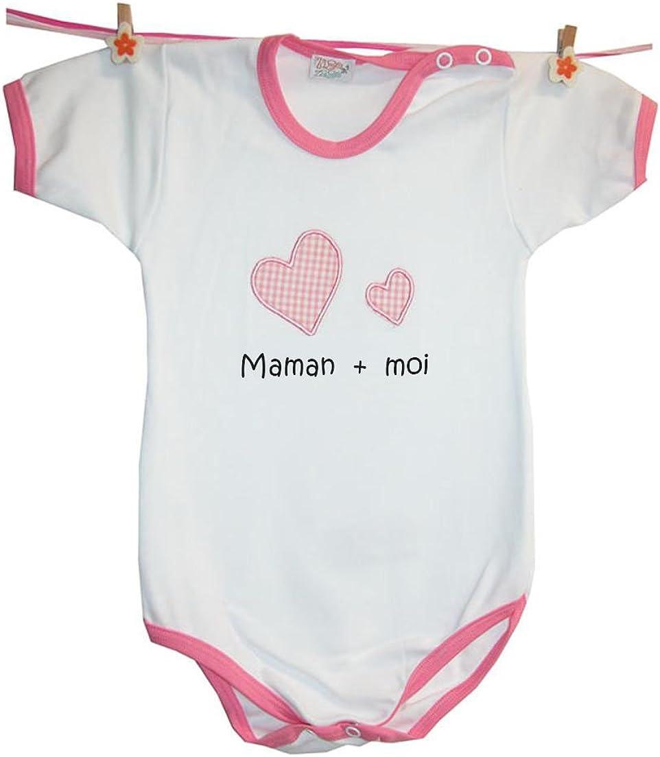 100/% Coton Zigozago Moi Body B/éb/é Maman