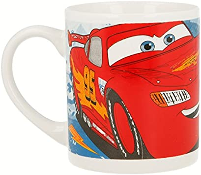 Cars Racing Sports Network Cuenco, Plato Postre, Taza Set MERIENDA EN Caja DE Regalo 3 PCS.