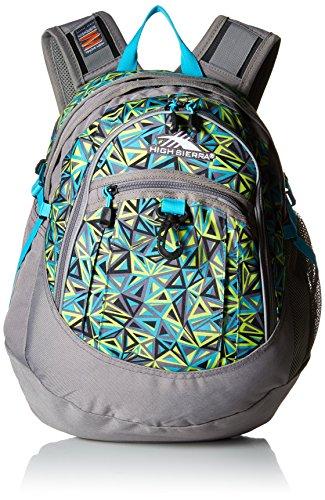 High Sierra Fat Boy Backpack, Electric Geo/Charcoal/Tropic Teal