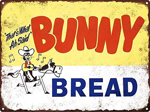 Yilooom Bunny Bread Cowboy Man Cave Metal Sign Repro 12