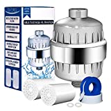 Upsimples 9-Stage Shower Filter, Shower Water Purifier, Chlorine & Impurities Removal for Any Shower Head and Handheld Shower, 2 Replaceable Cartridge Included