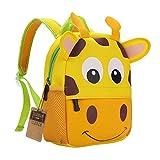 Teamen Children's school backpack, animal design, for children 2-6years old, giraffe
