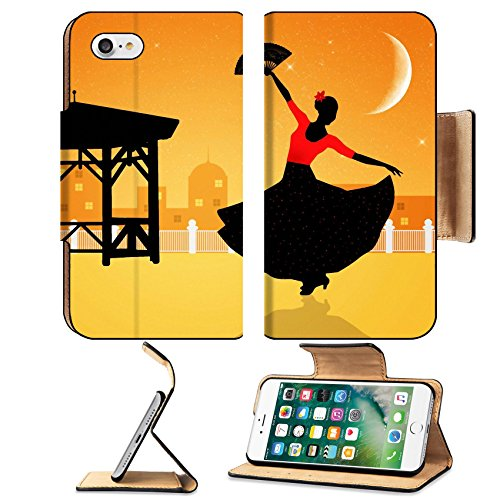 [Liili Apple iPhone 7 Pu Leather Flip Case Illustration of flamenco dancer iPhone7 Plus Image ID] (Female Flamenco Dancer Costumes)