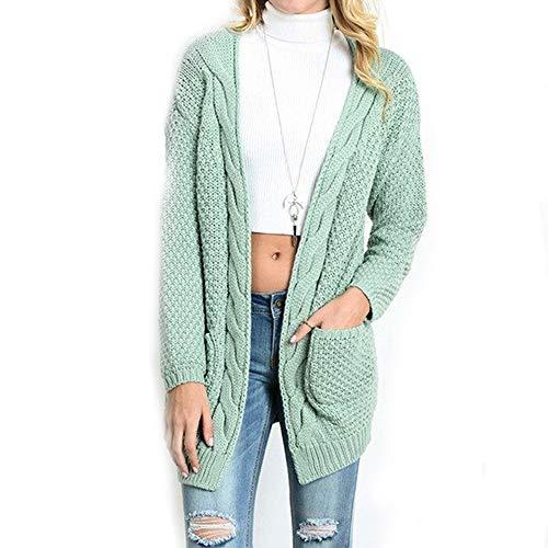 Molif Womens Sweaters Long Cardigan Women Long Sleeve Knitted Sweater Cardigans Autumn Winter Light Green XL]()