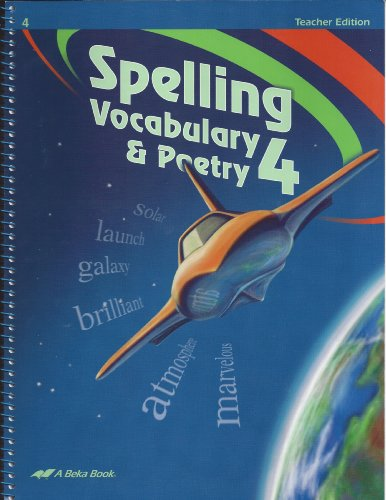 Spelling Vocabulary Poetry 4 Teacher's Edition for sale  Delivered anywhere in USA