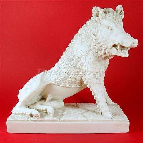The Bronze Room Medici Boar Carrara Marble Sculpture