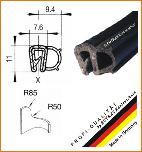 eutras Junta Perfil ksd2054 Puerta goma para maletero Junta –  Rango de sujeció n 0, 8 –  2, 5 mm –  Negro –  3 M 8-2 5mm-Negro-3M Deutschland