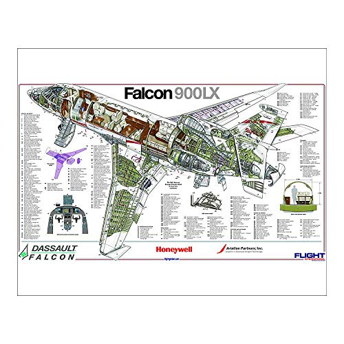 Media Storehouse 20x16 Print of Dassault Falcon 900LX Cutaway Poster (4228625)