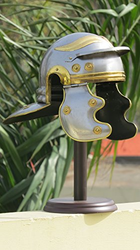 NAUTICALMART Roman Gallic Guard Helmet With Brass Accents SCA Larp by NAUTICALMART