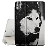 Graphic4You Wolf Animal Design Ultra Slim Case Smart Cover Stand [with Sleep / Wake Function] for Apple iPad Air 2