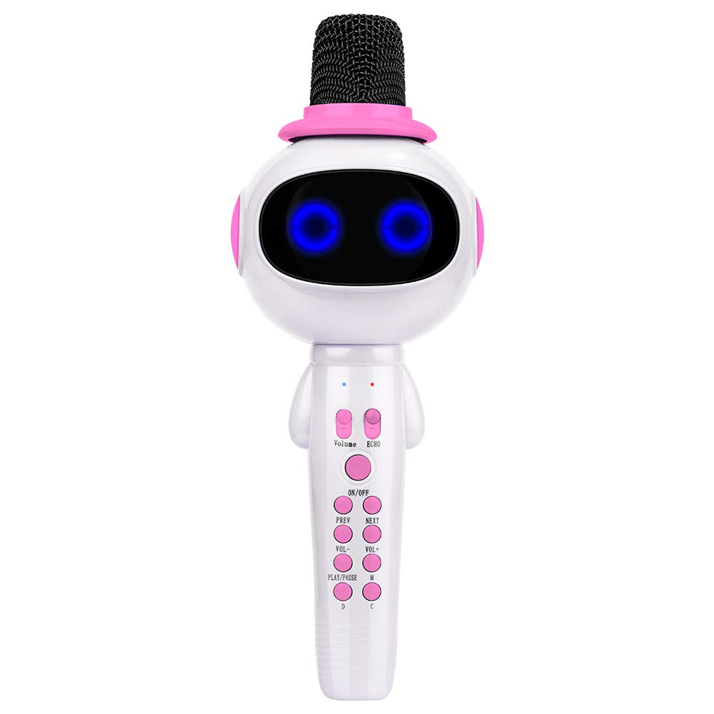 Bonaok Kids Wireless Bluetooth Karaoke Microphone