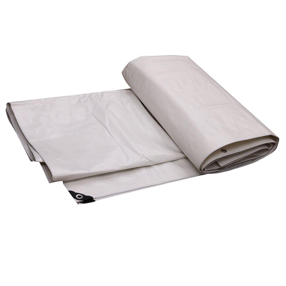 DYFYMXOutdoor Ausrüstung Dichte Plane, regensichere Sonnenschutzplane, Außensonnenschutz staubdicht und Winddichtes weißes Kunststofftuch @