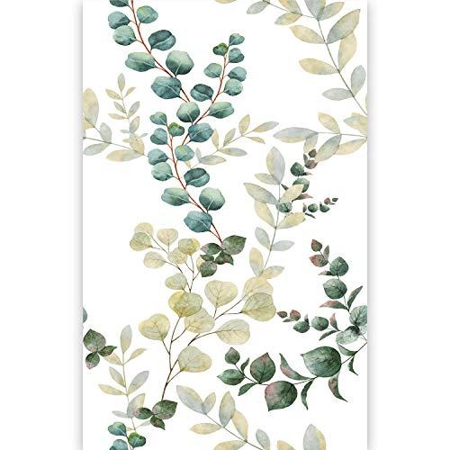 artgeist Photo Wallpaper Tropical Leaves 59''x110'' XXL Non-Woven Wall Mural Premium Print Fleece Picture Image Design Home Decor - Flower Print Wallpaper