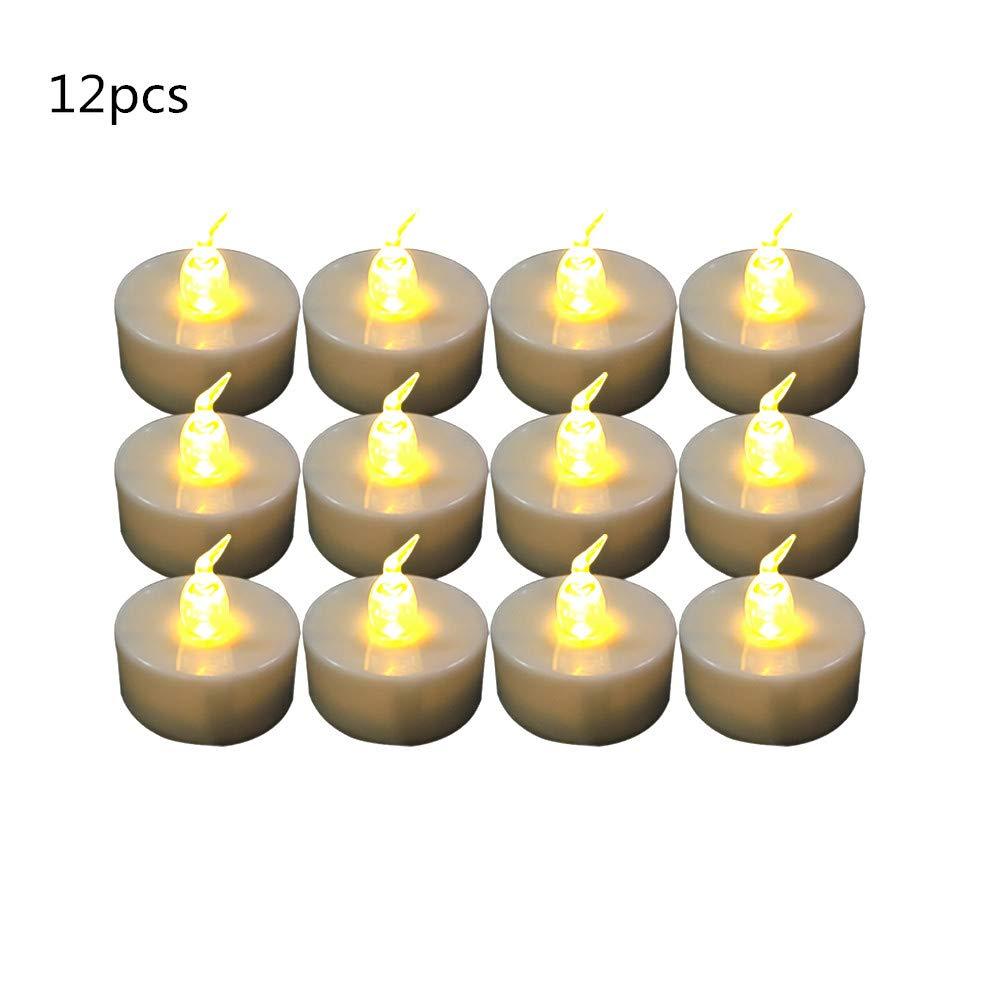 Amazon Com Frestree Flameless Led Tea Light Candles With Warm White