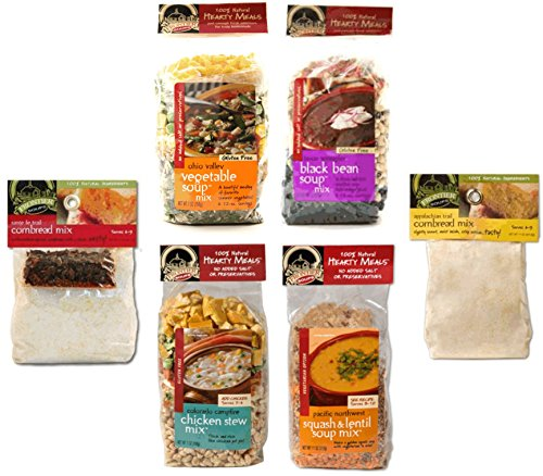 Price comparison product image BetterTaste Frontier Soups Hearty Meals Variety Bundle with Santa Fe Trail and Appalachian Trail Cornbread Mixes
