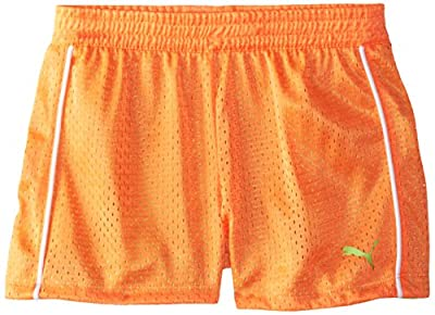PUMA Girls' Active Double Mesh Short