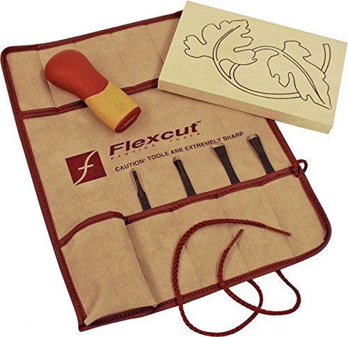 Flexcut Carving Tools, Craft Carver Set, 4 Carving Blades and ABS Handle Included, (SK106)