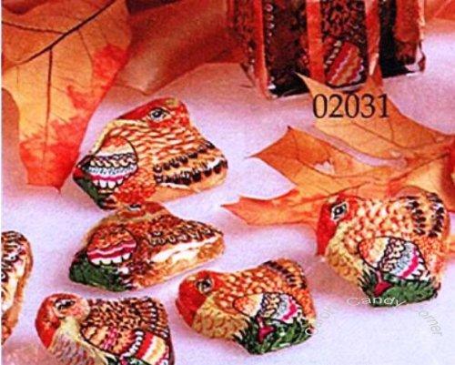 Thanksgiving Mini Solid Milk Chocolate Turkeys (1 Lb - 42 Pcs)