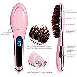 Electric LCD Hair Straightening Brush Comb Machine