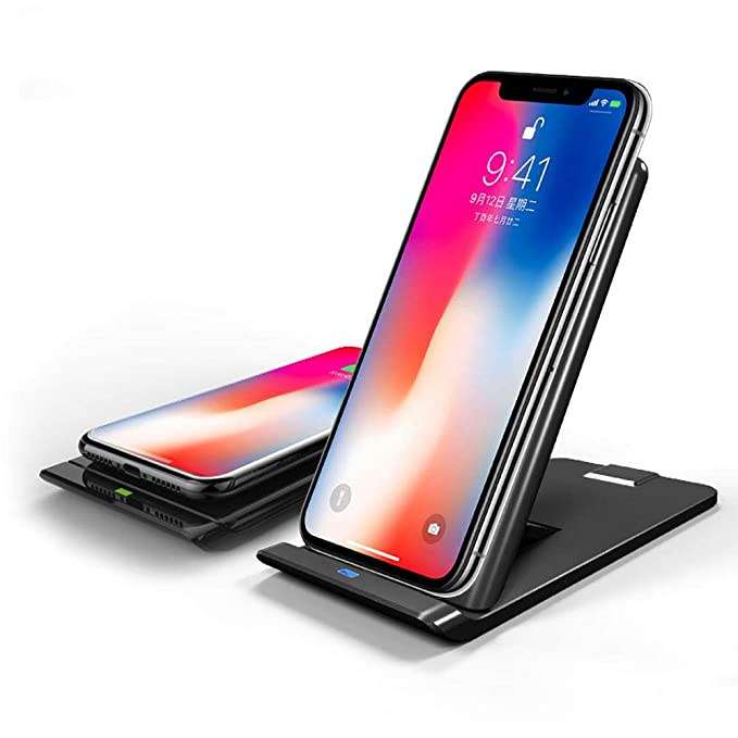 iPhone 8 Wireless Charger, icyber iPhone X Wireless Charger (No AC Adapter), 3-Coil Fast Wireless Charging Pad Stand for Galaxy Note 8/5 ...