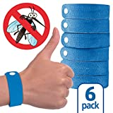 OUTXPRO 6 Pack Mosquito Repellent Bracelet - Micorfiber No Plastic No Deet Adjustable Waterproof Wristband For Kids, Men and Women Repells Mosquitoes, Flies, Bed Bugs and More