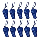 SODIAL(R)10pcs Plastic Multicolor Referee Whistle Blue