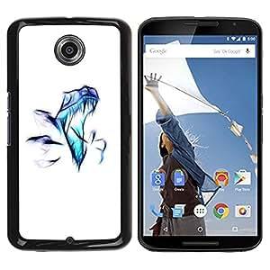 LECELL -- Funda protectora / Cubierta / Piel For Motorola NEXUS 6 / X / Moto X Pro -- Raptor Airbrush --