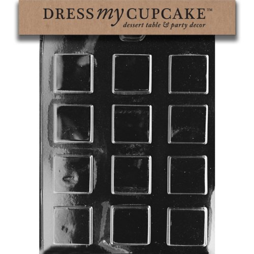 Dress My Cupcake Chocolate Candy Mold, Plain Square Mints