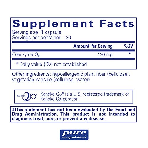 Pure Encapsulations - CoQ10 120 mg - Hypoallergenic Coenzyme Q10 Supplement - 120 Capsules by Pure Encapsulations (Image #1)