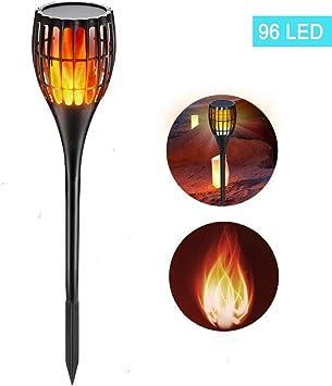 FRTU Solar Llama Luces Impermeable, antorcha Solar de Encendido/Apagado automático para Patios Traseros, Jardines, iluminación de césped: Amazon.es: Deportes y aire libre