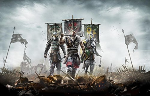 Da Bang For Honor Samurai Vikings Concept Art Warriors Poster Print