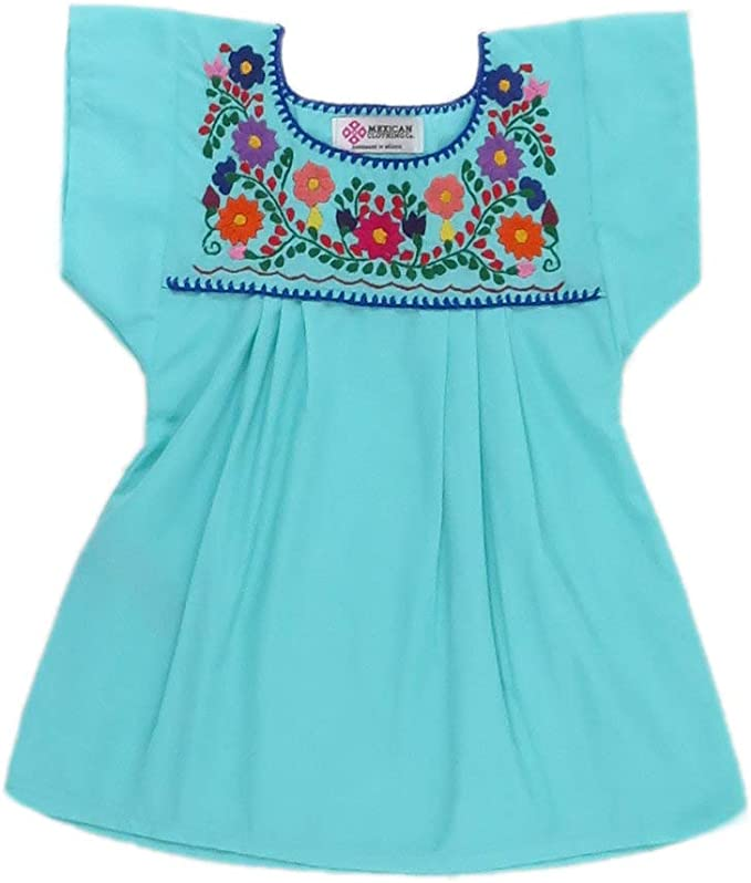 Mexican Clothing Co Baby Girls Mexican Blouse Traditional Poplin
