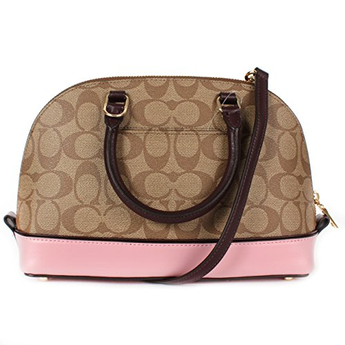 cb517461d840 Coach Colorblock Signature PVC Logo Mini Sierra Satchel Khaki ...