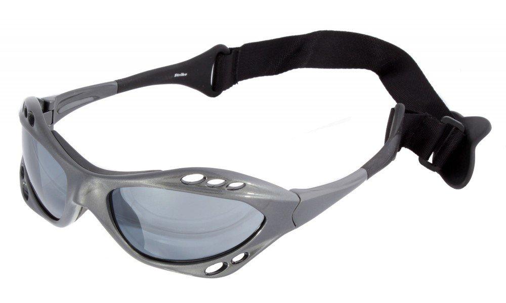 STRIKE EYEWEAR Wassersport Brille Kitebrille Sportbrille 078 mit Kopfband weiß für Wakeboarding Kitesurfen Segeln yAW8gWJ
