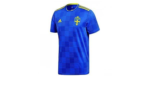 b004f6063 Amazon.com   adidas 2018-2019 Sweden Away Football Soccer T-Shirt Jersey  (Kids)   Sports   Outdoors
