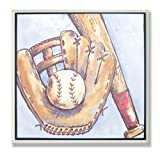 The Kids Room Baseball Glove and Mitt Square Wall Plaque, Baby & Kids Zone