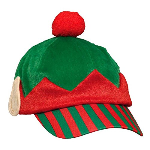 Amscan Elf  Baseball Fabric Hat | Christmas Accessory -