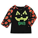 JAGENIE Toddler Baby Happy Halloween Costume Long Sleeve Pumpkin T-Shirt Tops O-Neck New
